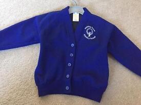 Brinkley grove school cardigan boys girls blue 4-5-6
