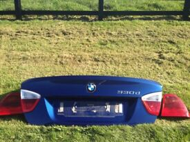 BMW 3 SERIES 2005-2008 E90 BOOT LID - PAINTED IN LE MANS BLUE (colour code 381)