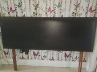Starplan black double leather headboard