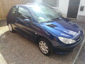 peugeot 206 1.4 2004 3 door blue new MOT 63000miles only