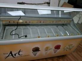 Ice cream display freezer