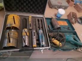Core drill and bits