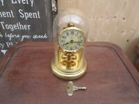 ANNIVERSARY CLOCK GERMANY BY KERN DECORATED FACE, VINTAGE,SPARES OR REPAIR
