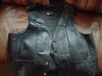 New Leather waist coat will post.XL.