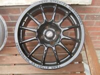"Alloys new black wheels 7x16"" 4x108 Ford Citreon Pug"
