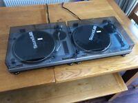 x2 - SoundLab DLP-32S - Direct Drive - Record Decks - DJ Turntables