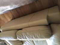 Leather sofa (Natuzzi) 3&2 seater