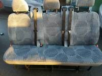 2006-2014 FORD TRANSIT 3 SEATER FOLD AWAY SEAT WITH 3x SEAT BELTS