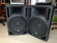 2 S&T 15 active speakers,2 mixers and a pair of stand
