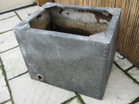 old galvanised water tank , would make great garden planter
