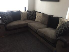 Excellent condition corner sofa and large swivel chair