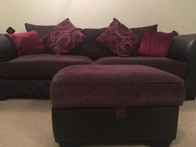 Local delivery available -4 seater, 2 seater, swivel chair and footstool