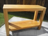 Console table in solid oak