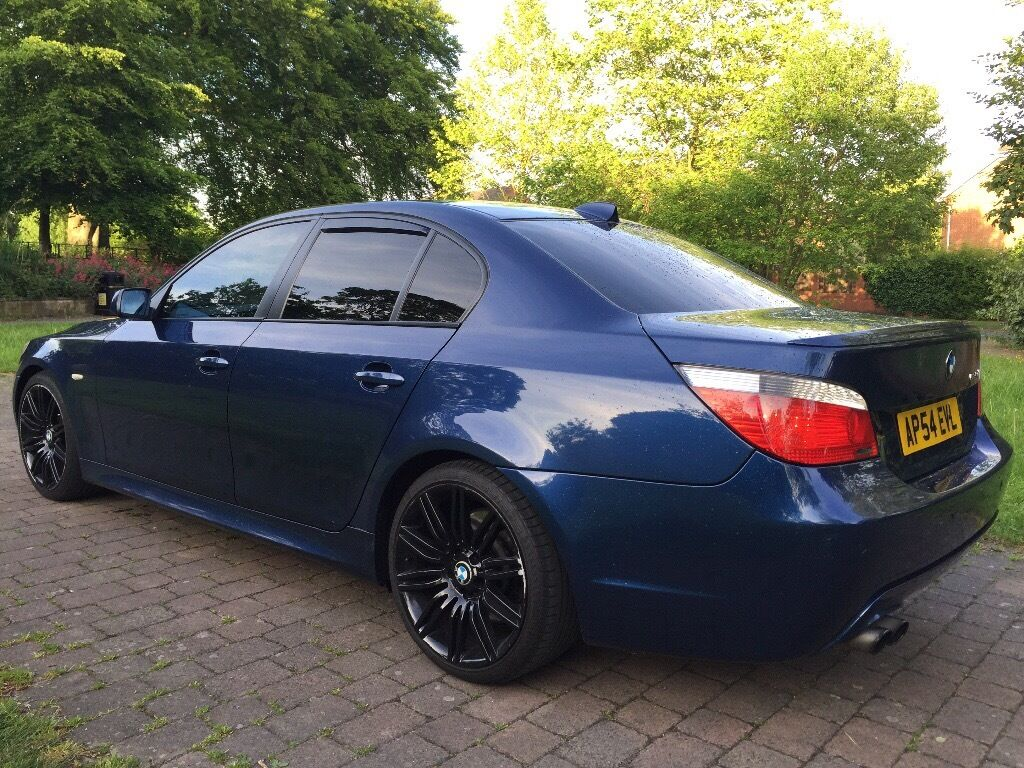 2004 bmw 535d m sport 272 bhp fsh auto widescreen sat nav dvd player heated sport seats 19. Black Bedroom Furniture Sets. Home Design Ideas