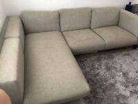 IKEA NOCKEBY LARGE BEIGHE CORNER SOFA - MUST GO BY SUNDAY - CHEAP DELIVERY - £375
