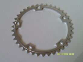 CHAINRING: STRONGLIGHT DURAL, 38T, b.c.d.: 130 mm - NEW ! - compatible: Shimano, Sram