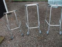 CHOICE OF FOUR LIGHTWEIGH INVALIDITY WALKING FRAMES WITH WHEELS