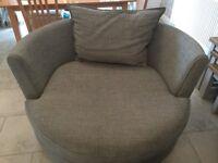 DFS Cuddle Chair, grey