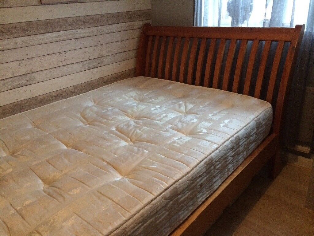 Large double bed solid wood