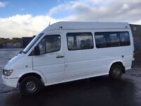 Mercedes Benz sprinter 312d parts mini bus passenger window van engine gearbox axel door