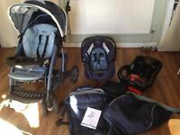 Baby pushchair and car seat