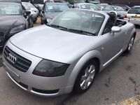 2004/54 AUDI TT 1.8T ROADSTER,CONVERTIBLE,SILVER,57K MILES,HEATED LEATHER SEATS,LOOKS+DRIVES WELL