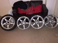 4 penta alloys for sale. All good condition. All slightly kurbed. Could do with a refurb