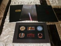 set of Star War prints/extras of over 11 years ago official fun club original packaging; almost new