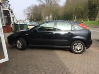 BLK Ford Focus Ghia, good condition, got MOT until May 17. Quick sale. Open to offers