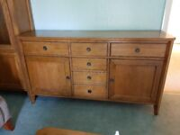 Oak sideboard 2 years old As new condition £200. Selling because house move