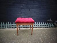 SOLID WOOD DRESSING TABLE STOOL IN EXCELLENT CONDITION ABSOLUTELY BEAUTIFUL 49/40/45 cm £20