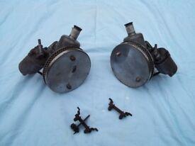 "Classic Mini twin 1 1/4"" SU carburettors."