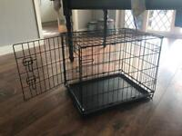 Small dog crate with base (brand new/unused)