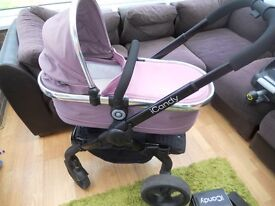 icandy peach 3, carrycot, carseat, 2 isofix bases, all adaptors and raincovers-superb condition