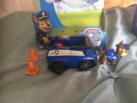 Paw patrol figures and vehicles