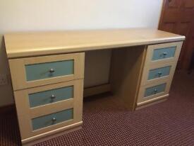 Desk and bedside locker for sale