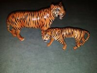 Beswick Male and Female Tigers