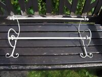 SHABBY CHIC METAL TOWEL RAIL FROM FRANCE