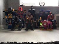 Imaginext, Power rangers, Batman and transformers bundle