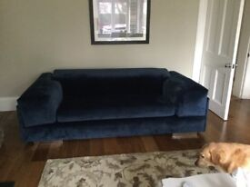 Original 1970's vintage large sofa, medium sofa and chair