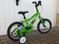 "14"" Ridgeback bike with stabilisers"