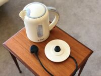 Bosch cordless Kettle with 1.7L Capacity and 360 Degree Base in Cream