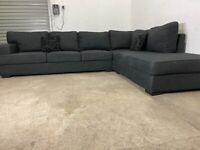 Grey dfs corner sofa, couch, suite, furniture 🚚🚛🚚