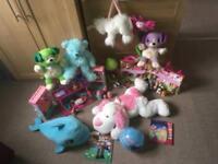 Large toys bundle(doll's house,light up bear,LeapFrog Violet/Scout,interactive delphin..