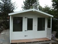 20x10 traditional summerhouse/shed with plastic cladded walls