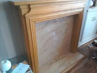 Wooden fire surround (pine) in good condition