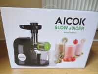 Aicok Black Slow Masticating Juicer Extractor -Only few months old & used a few times- Original Box
