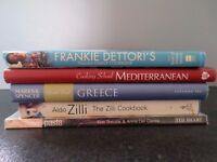Five Mediterranean cookery books