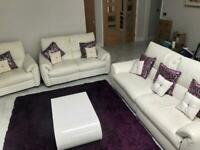 White leather electronics recliners sofa