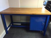 Work Benches, 1500mm Width x 700mm Depth x 880mm Height. With One Storage Unit. 3 Left In Stock!